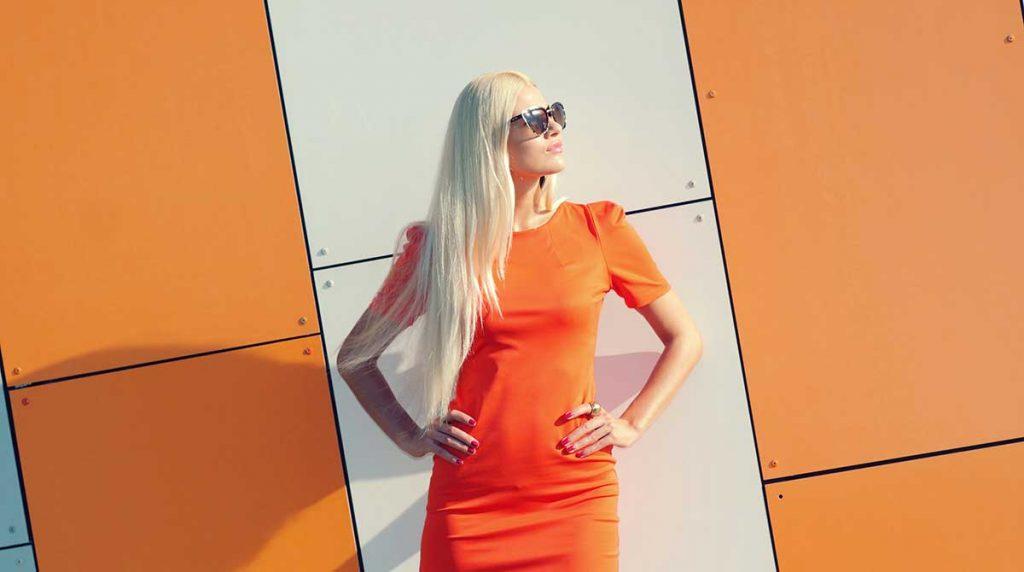 لباس پرتقالی شیک دخترانه