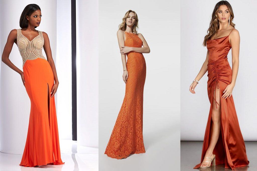 لباس های نارنجی رنگ دخترانه