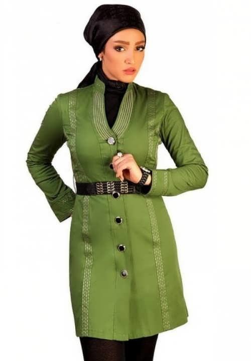 مدل مانتو سبز لجنی اسپرت